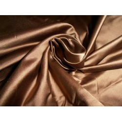 """50 MOMME SILK DUTCHESS SATIN FABRIC Nutella chocolate brown color 54"""""""