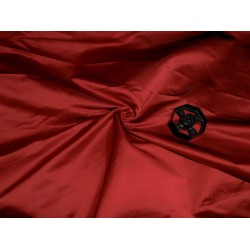 """53 momme Polyester Dutchess Satin 54"""" wide-red  x black"""