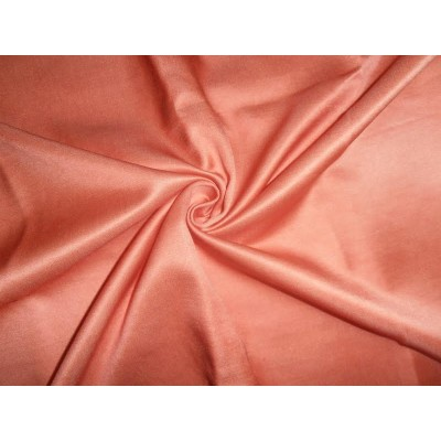 dark peach color cotton 60 silk 40 fabric 70 momme 137 cms wide