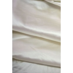 "53 momme White Polyester Duchess Satin - Majestic 54"" wide"