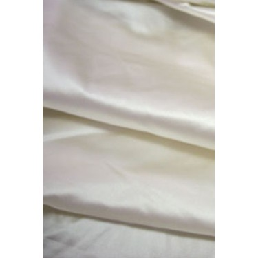 """53 momme White Polyester Duchess Satin - Majestic 54"""" wide"""