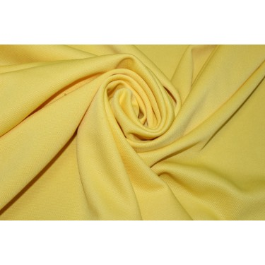 """100% Polyester scuba Fabric 59"""" wide- DOBBY DESIGN -YELLOW"""