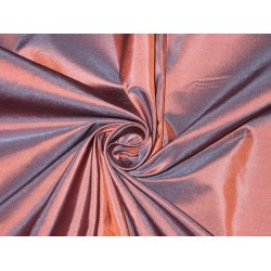 "100% Pure SILK TAFFETA FABRIC Blue with Orange Shot color TAF#176[1] 54"" wide sold by the yard"