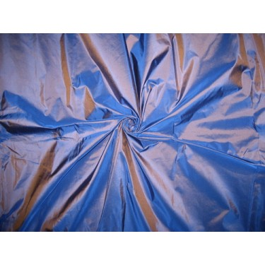 """SILK TAFFETA FABRIC electric blue with brown shot 44"""" wide sold by the yard"""