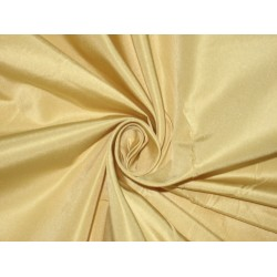 "Pure Silk Taffeta fabric~Golden Cream 60"" wide sold by the yard"
