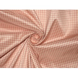 "Heavy Quality SILK TAFFETA FABRIC Pink & Ivory plaids TAF C 36 54"" wide sold by the yard"