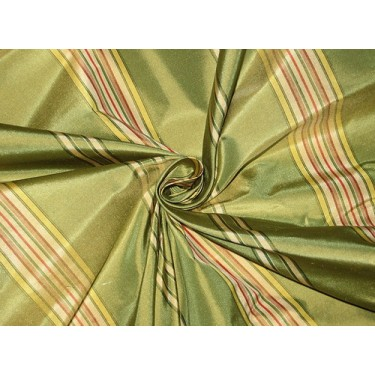 """Silk Taffeta Fabric Apple Green,Yellow,Red & Ivory 54"""" wide sold by the yard"""