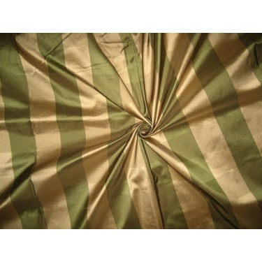 """Pure Silk Taffeta Fabric Antique Gold & Green plaids 54"""" wide sold by the yard"""
