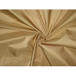 "100% Pure SILK TAFFETA FABRIC Beigeish Gold color 54"" wide sold by the yard"