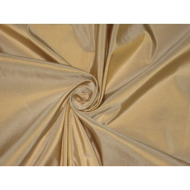 100% Pure SILK TAFFETA FABRIC Antique Gold Ivory Shot