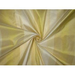 Silk Taffeta Fabric Butter,Cream,Ivory & Gold stripes 54 inches wide/137 cms