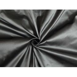 "SILK TAFFETA FABRIC Dark silver grey x white 54"" TAF65[2] by the yard"