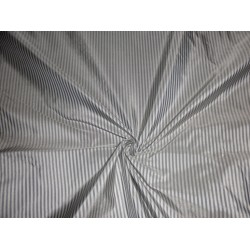 """Taffeta pin vertical stripe -off white grey 54"""" wide sold by the yard"""
