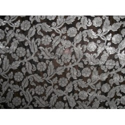 "devore Polyester  burnout grey  Velvet fabric -60"" wide"