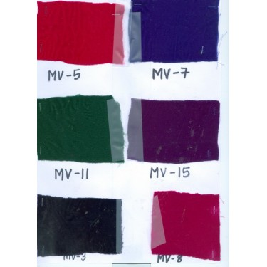 Sample swatches-10 micro velvet swatches for usd$25{inclusive of airmail}