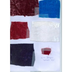 Sample swatches-4 silk rayon velvet  swatches for usd$17{inclusive of airmail}