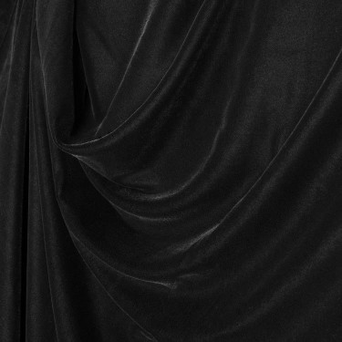 """Black Micro Velvet Fabric 44"""" wide sold by the yard"""
