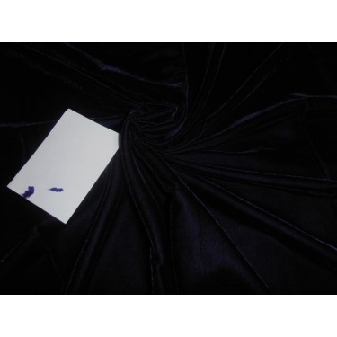"""navy dark blue Micro Velvet Fabric 44"""" wide  sold by the yard"""
