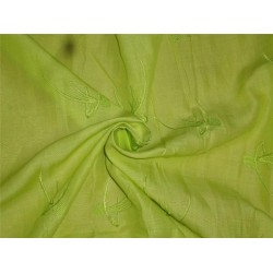 """Neon Green Linen Fabric 54"""" Embroidered"""