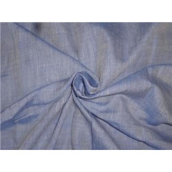 """Two Tone Blue x Ivory Color Linen Fabric 54"""" Cut Length 2.15yrd"""