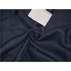 """Heavy Linen Navy Blue Color Fabric 58"""" Cut Length of 3.25 yards"""