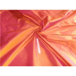 "100% Pure Silk Dupioni Fabric Orange x Pink 54"" Slubs sold by the yard"