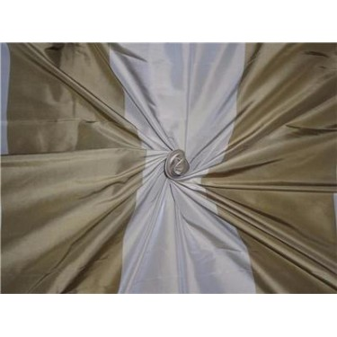 """100% Pure Silk Taffeta Fabric Dusty Green x Beige Color  54"""" wide sold by the yard"""