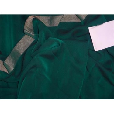 """Silk Georgette Green Color with Shimmer Border 44"""""""