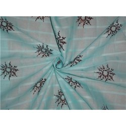 """Sea Blue Green Floral Wreath""""~printed cotton plaids 44 inches wide"""