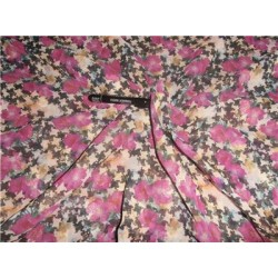"""Polyester Georgette 44"""" Wide ~Pink x Multi Color Printed"""