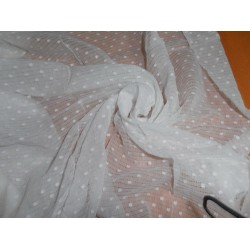 "WHITE COTTON VOILE 58"" WIDE / dobby/misdent"