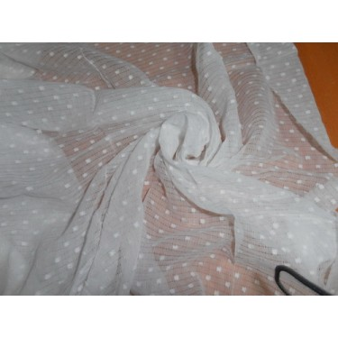 White Cotton Voile 58 Quot Wide Dobby Misdent