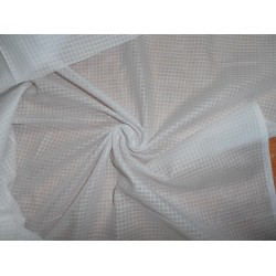 2 x 2 cotton voile small plaids-white