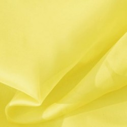 pale yellow silk chiffon fabric  44""
